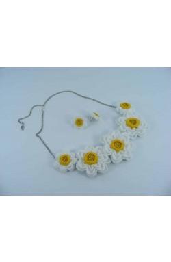 Set cadou Narcise de dama crosetat manual Buticcochet
