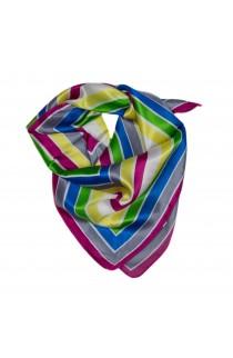 Esarfa, Batic, de dama, cu dungi colorate, 60x60 cm - ES178