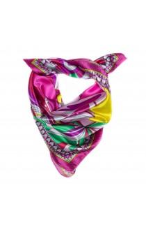 Esarfa, Batic, de dama, cu imprimeu multicolor, 60x60 cm - ES180