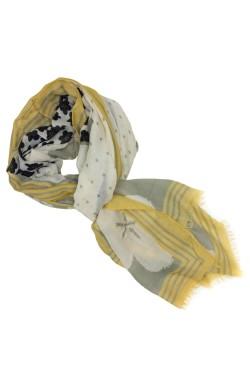 Esarfa, de dama, Buticcochet, cu imprimeu multicolor, 80x180 cm - ES345