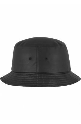 Palarie de soare, neagra, pentru barbati, din piele ecologica, Flexfit