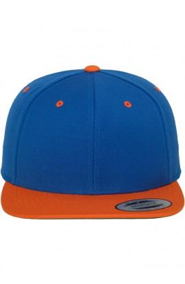 Sapca, Reglabila, Albastru/portocaliu, din 80% acrilic si 20% lana, Flexfit, btcu1237