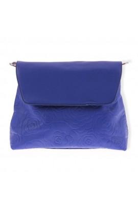 Geanta dama, Albastra, piele ecologica, 31 x 23 cm, BTC367