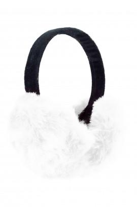 Casti protectie urechi, pentru iarna, de dama, Albe