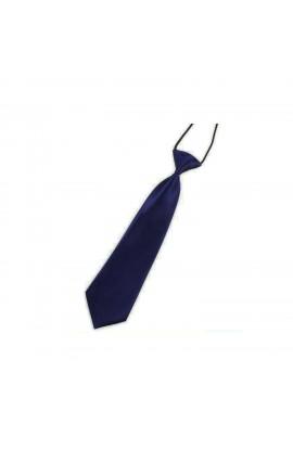 Cravata pentru copii, Buticcochet,  Bleumarin, din material sintetic, 28 cm - CRV203