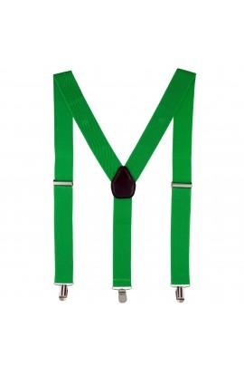 Bretele adulti unisex, verde, cu inchizatori metalice, 35 mm, BR23