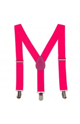 Bretele copii, roz, inchizatori metalice, 25 mm, BR27