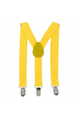 Bretele copii, galben, inchizatori metalice, 25 mm