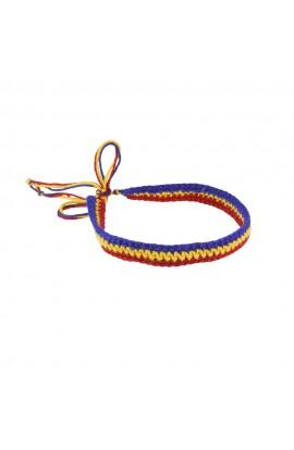 Bratara Unisex, Tricolor cu snur, Buticcochet, crosetata manual, BRTR10