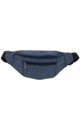 Borseta brau, umar, din material textil impermeabil, Albastru, 3 compartimente,  Buticcochet - BRS240