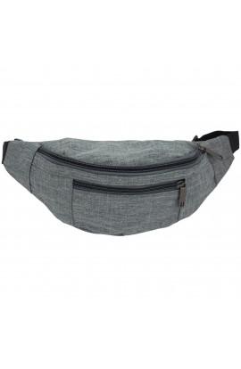 Borseta brau, umar, din material textil impermeabil, Gri, 3 compartimente,  Buticcochet - BRS241