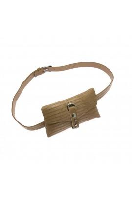 Borseta de dama, Buticcochet, din piele ecologica, cu aplicatii metalice, Bej -  BRS269
