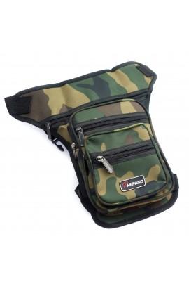 Borseta brau, din material textil , Z&ZZ, imprimeu Army Kaki - BRS308