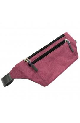 Borseta sport, unisex, Buticcochet, din material textil, Roz cenusiu - BRS342
