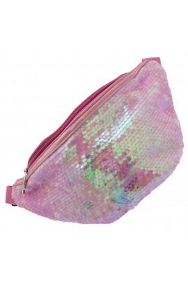 Borseta pentru copii, Roz bonbon cu paiete, model unicorn - BRS402