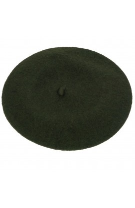 Bereta de dama, Verde Kaki, 100% lana - BSC205
