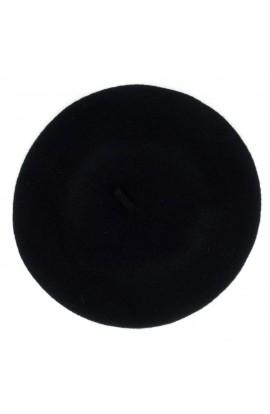 Bereta de dama, Negru, 100% lana - BSC206