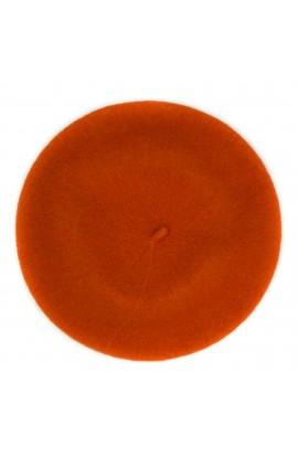 Bereta de dama, Portocaliu, Buticcochet, 100% lana - BSC262