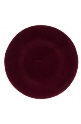 Bereta de dama, Visiniu, Buticcochet, 100% lana - BSC268