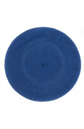 Bereta de dama, Bleu inchis, 100% lana - BSC272