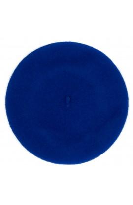 Bereta de dama, Albastru electric, 100% lana - BSC278