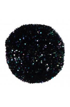 Bereta de dama, Negru cu paiete multicolore, dimensiune reglabila - BSC295