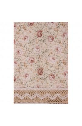Fata de masa, Imprimeu floral, 85x85 cm, Buticcochet, BTC247