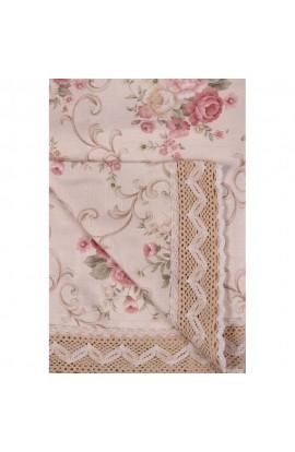 Fata de masa, Imprimeu floral, 85x85 cm, Buticcochet, BTC250