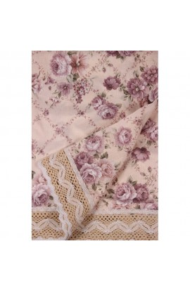Fata de masa, Imprimeu floral, 85x85 cm, Buticcochet, BTC253