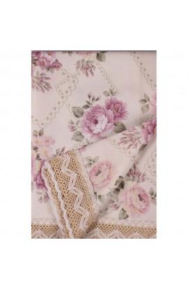 Fata de masa, Imprimeu floral, 85x85 cm, Buticcochet, BTC254