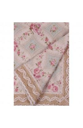 Fata de masa, Imprimeu floral, 85x85 cm, Buticcochet, BTC257