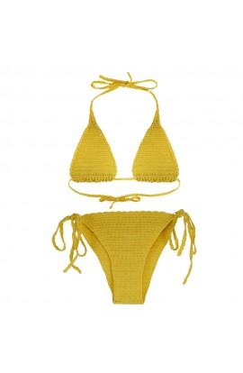Costum de baie, dama, Buticcochet, crosetat manual, Galben