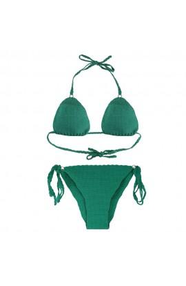 Costum de baie, dama, Buticcochet, crosetat manual, Verde
