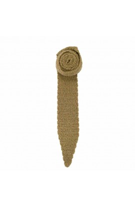 Cravata barbateasca Buticcochet crosetata manual Bej