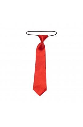 Cravata pentru copii, Buticcochet, Rosu din material sintetic, 28 cm - CRV201