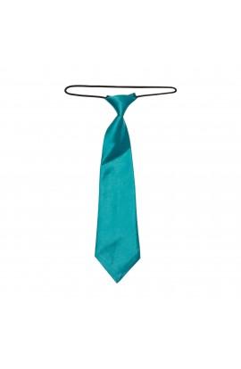Cravata pentru copii, Buticcochet, Turcoaz, din material sintetic, 28 cm - CRV212