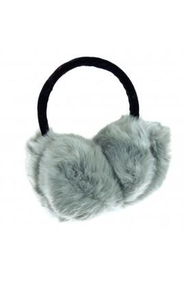 Casti protectie urechi, dama, pentru iarna, Gri cu blanita