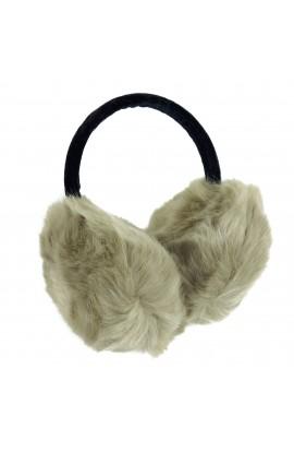 Casti protectie urechi, dama, pentru iarna, Maro cu blanita, CSIA204