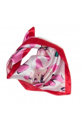 Esarfa, Batic, de dama, Roz cu fluturasi, 50x50 cm - ES135