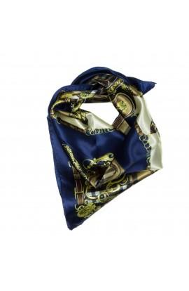 Esarfa, Batic, de dama, Bleumarin cu maro, 50x50 cm - ES154