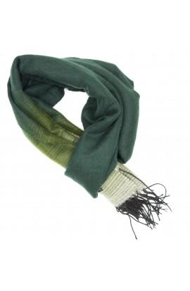 Esarfa, Fular barbati, din 100% casmir / pashmina, Verde, 33 x 160 cm - ES248