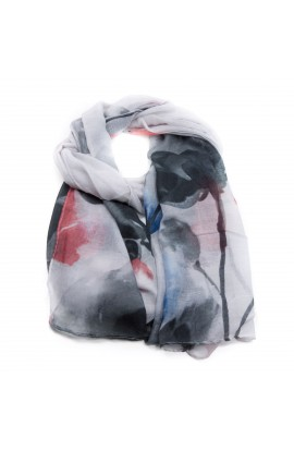 Esarfa multicolora din vascoza, de dama, 48 x 180 cm - ES24