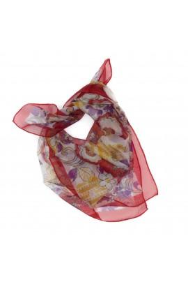Esarfa, Batic, de dama, cu model floral multicolor, 50x50 cm - ES490