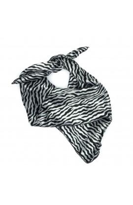 Esarfa, Batic, de dama, Negru cu alb, 50x50 cm - ES506