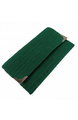 Geanta plic de dama, Buticcochet, crosetata manual, Verde, GPVR04