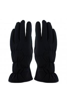 Manusi dama, de iarna, LMT, cu degete, Negru, interior imblanit - MA56