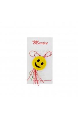 Martisor Brosa, Buticcochet, Smiley Face, din fetru - MR493