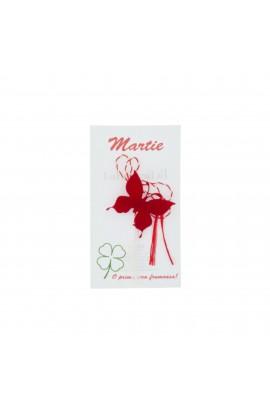 Martisor Brosa, Buticcochet, fluturas rosu, din fetru - MR499