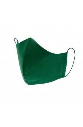 Masca de fata, din bumbac 100%, reutilizabila, nesterila, strat dublu, verde - MSC201