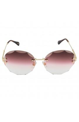 Ochelari de soare, lentila ovala, Roz degrade, de dama, model fashion, OCS201